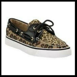 Sperry Leopard Boat Shoes